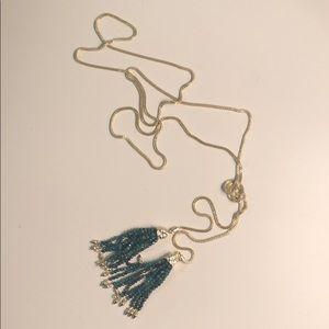 Kendra Scott tassel necklace.